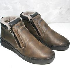 Мужские полуботинки из натуральной кожи Rifellini Rovigo 046 Brown Black