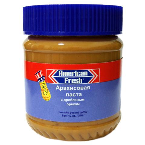 Арахисовая паста «American Fresh» с дробленым орехом, 340 гр.