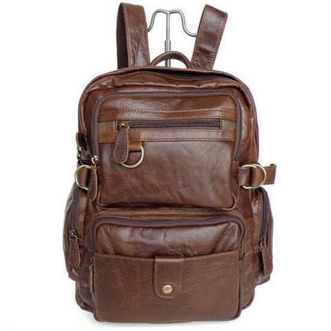 Кожаный рюкзак-сумка Maverick 7042 LightBrown