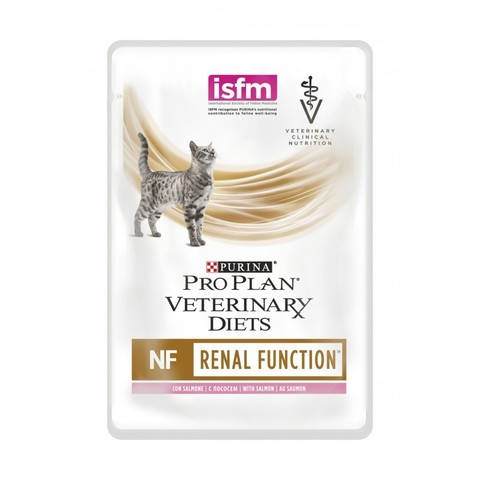 Veterinary diets NF - для кошек с патологией почек, лосось 85 г