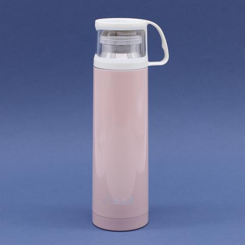 Термос из стали, розовый, 500мл