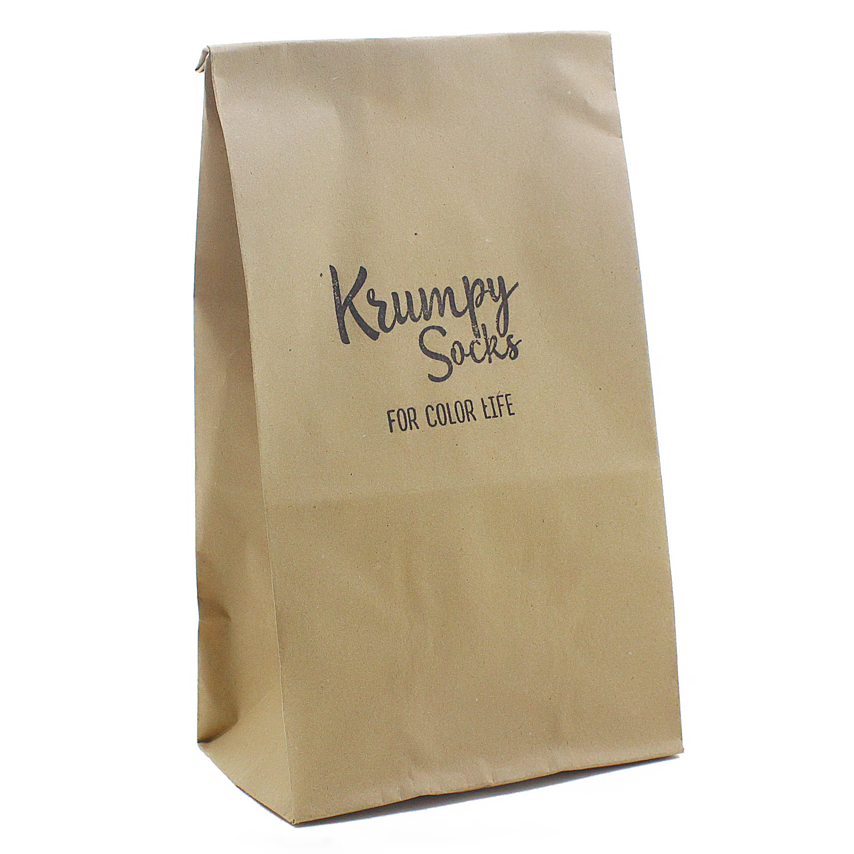 "Упаковка - Подарочный Пакет ""Крафт"" от 1 до 4 пар"