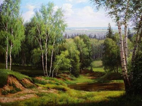 Картина раскраска по номерам 50x65 Дорога в лес