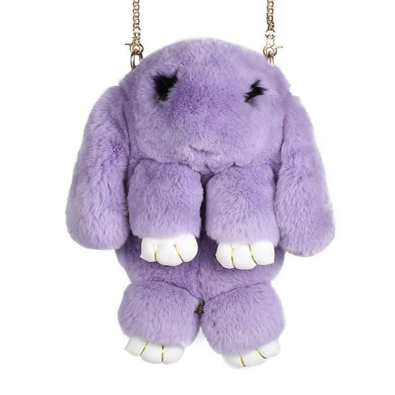 Фиолетовый вариант цвета сумки кролик