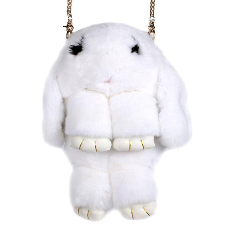 Белый вариант цвета сумки кролик