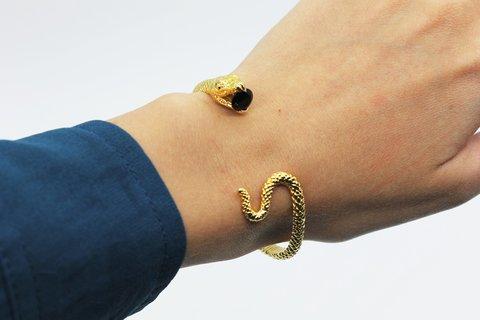 Браслет Змея (золотистая)