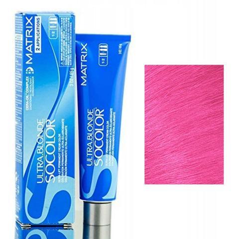 Matrix socolor beauty крем краска для волос экстра блонд, UL-Rose металлический ультра осветляющий оттенок