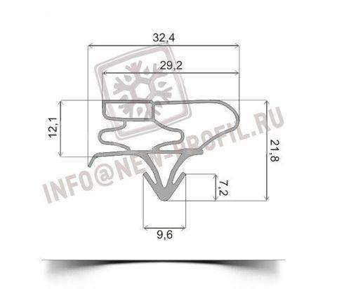 Уплотнитель 164*38 см для холодильника LG B207 GVCA (морозильная камера) Профиль 003
