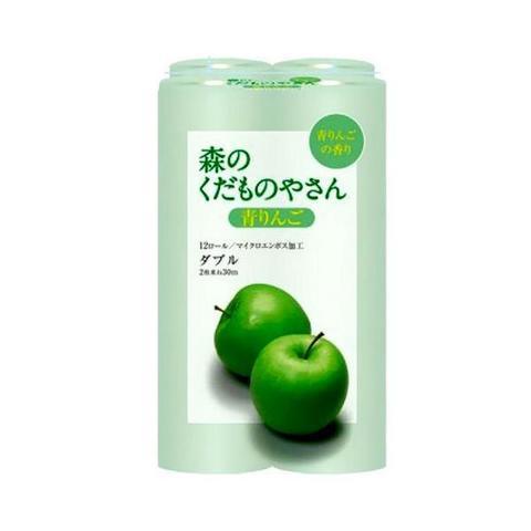 Туалетная бумага двухслойная с ароматом Зеленого яблока Fujieda Seishi 12 рулонов