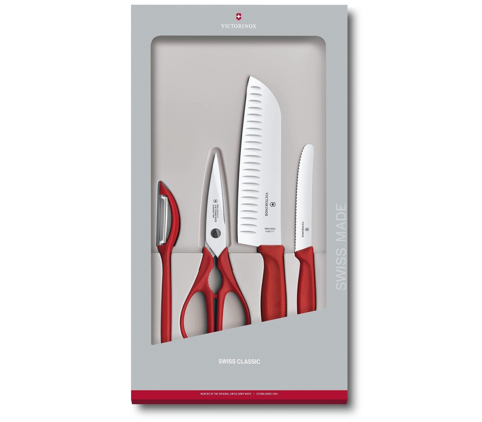Кухонный набор Victorinox, 4 предмета, цвет красный (6.7131.4G) - Wenger-Victorinox.Ru