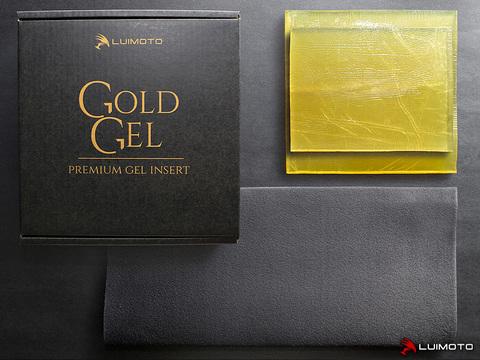 GG3 Гелевая вкладка на сиденье мотоциклиста и пассажиркое (набор) Gold Gel