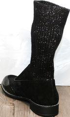 Женские полусапожки на низком каблуке Kluchini 5161 k255 Black