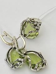 Урания (кольцо + серьги из серебра)