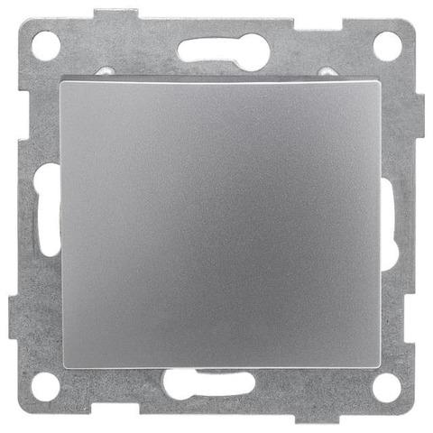 Выключатель одноклавишный, 10 А 220/250 В~. Цвет Серебро. Bravo GUSI Electric. С10В1-004