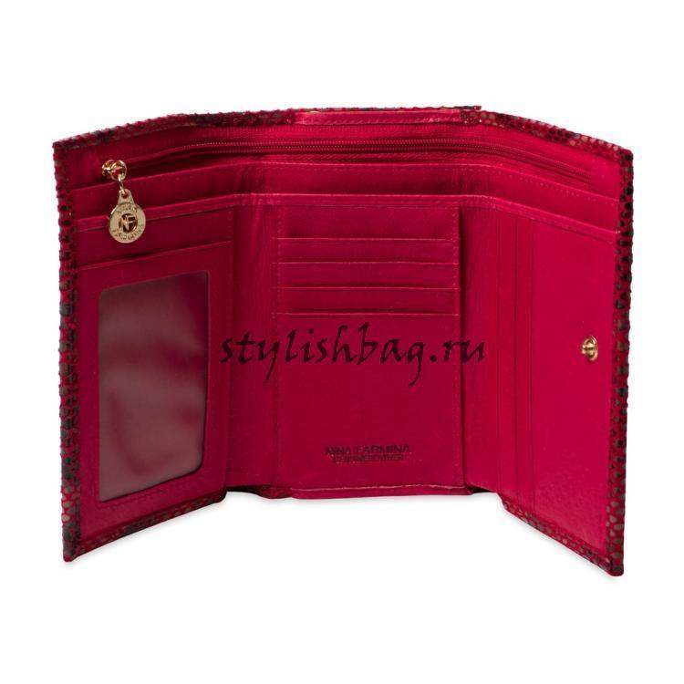 Маленький женский кошелек из кожи Nina Farmina 2NF9282-116DeRed