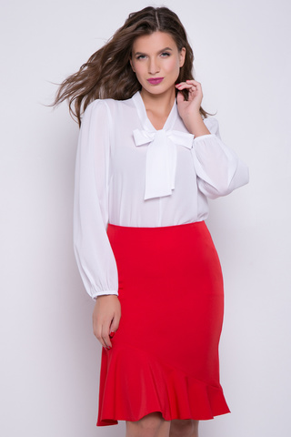 <p>Юбка с воланом - модный тренд 2019 года !&nbsp; В этой модели Вы будете первой модницей в офисе.</p>