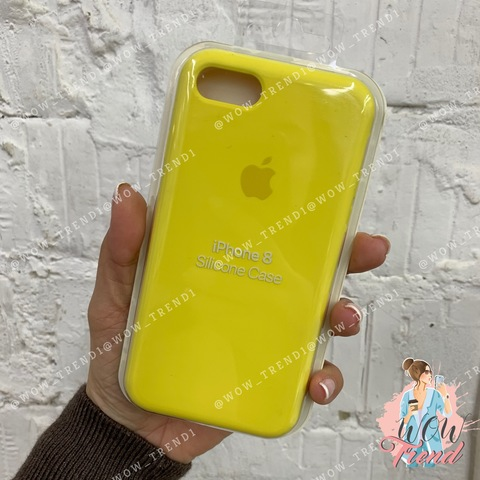 Чехол iPhone 7/8 Silicone Case /canary yellow/ канареечный 1:1