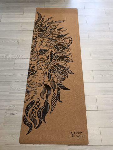 Пробковый коврик для йоги Lion 178*61*0,3 см