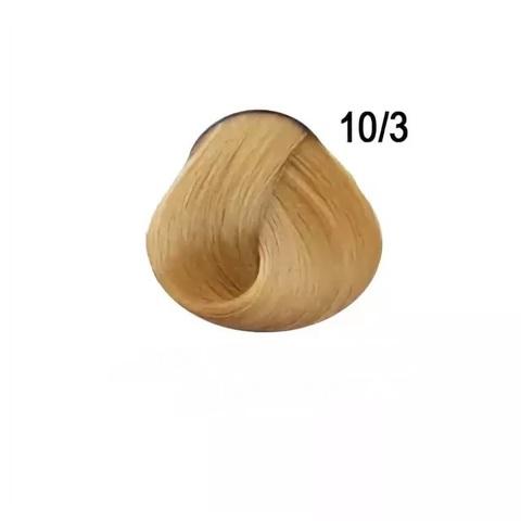 Перманентная крем-краска для волос Ollin 10/3 светлый блондин золотистый