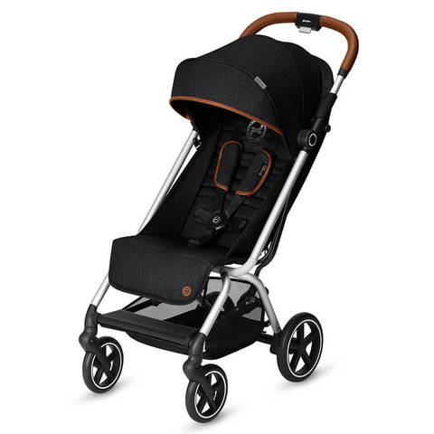 Прогулочная коляска Cybex Eezy S Plus Denim Collection Lavastone Black