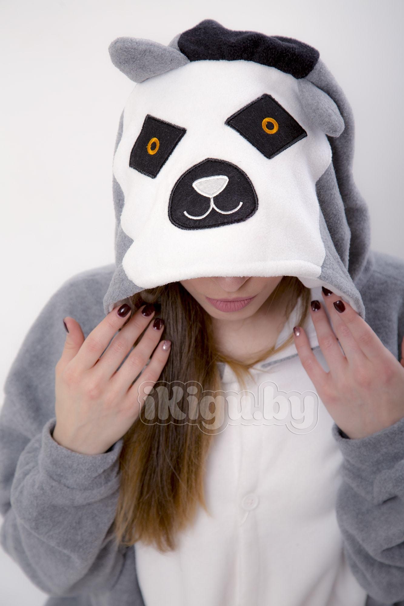 Пижамы кигуруми Серый Лемур (флис) Лемур_9062-min.jpg