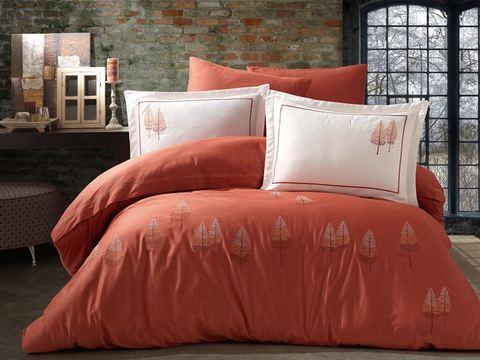 Комплект постельного белья DANTELA VITA сатин с вышивкой Евро PAMIR
