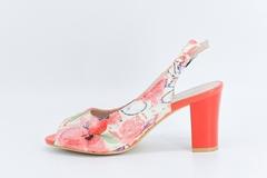 Розовые босоножки из искусственной кожи на высоком каблуке