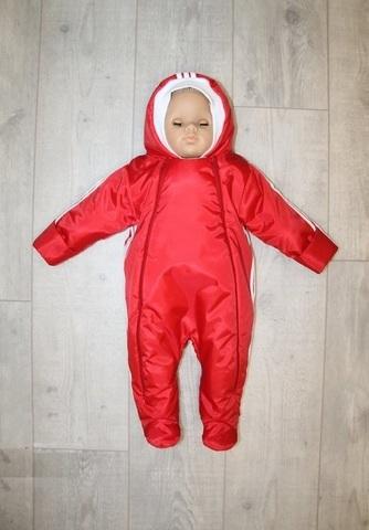 Демисезонный комбинезон для малышей Спортик красный