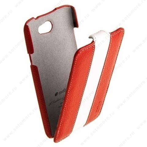 Чехол-флип Melkco для HTC One X Limited Edition Jacka Type (Red/White LC)