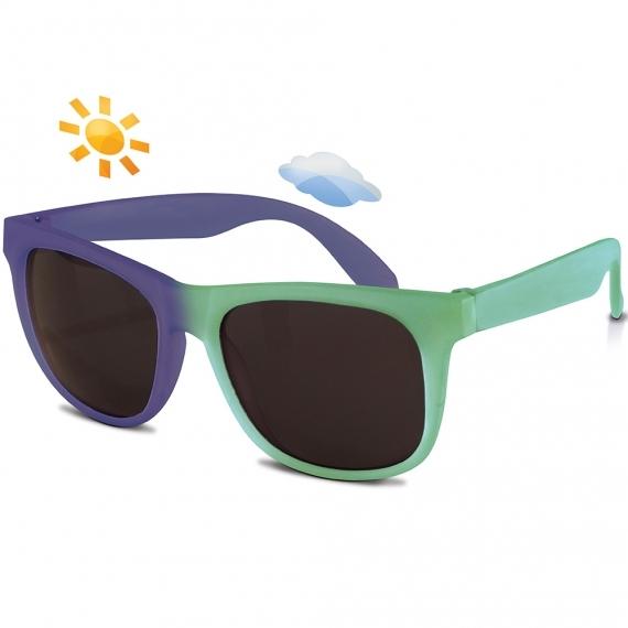 Солнечные очки для малышей Real Kids Switch 2+ зеленый/фиолетовый
