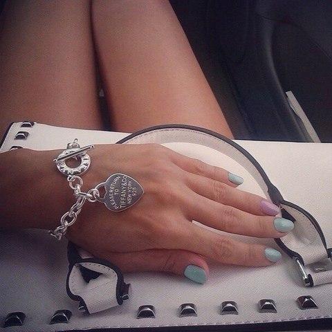 Браслет Tiffany Heart Tag (посеребрение)