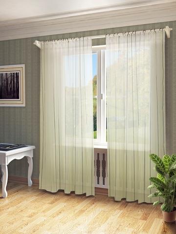 Готовая штора  Антония коричневый