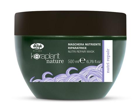 Питательная восстанавливающая маска для волос - Lisap Keraplant Nature Nutri Repair Mask 500 мл