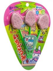 Шоколад Ichigo Tsumi клубничный на палочке, Lotte, 11 гр.