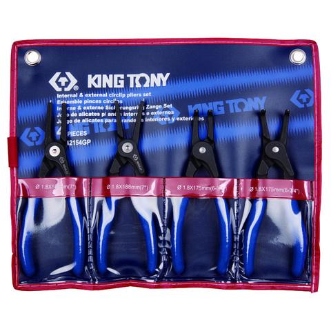 KING TONY (42154GP) Набор съемников стопорных колец, 4 предмета