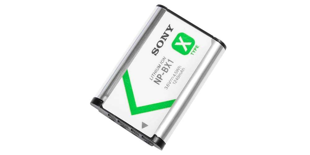 Аккумулятор Sony (NP-BX1) вид сверху