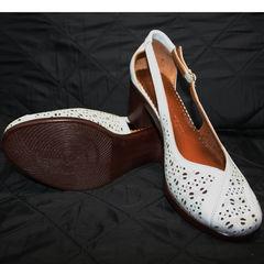Босоножки закрытый носок и пятка Marani Magli 031 405 White.