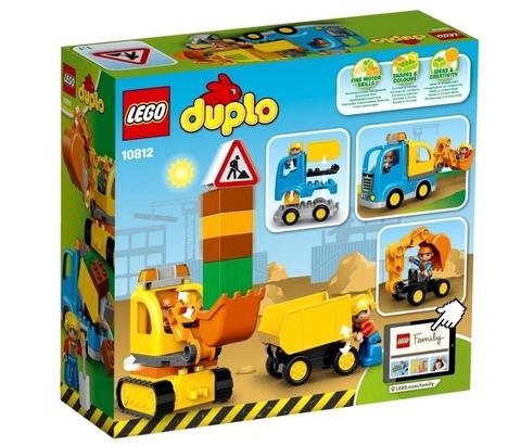 LEGO Duplo: Грузовик и гусеничный экскаватор 10812 — Truck & Tracked Excavator — Лего Дупло