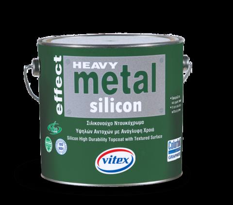 Текстурированная силиконовая износостойкая эмаль с особой декоративной отделкой -Metal Silikon