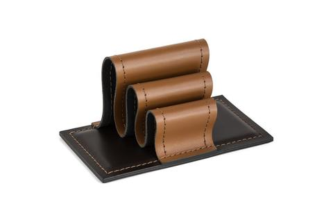 Визитница-холдер БИЗНЕС из кожи цвет Табак / шоколад