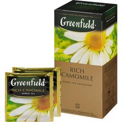Чай Greenfield Rich Camomile травяной с ромашкой 25 пакетиков