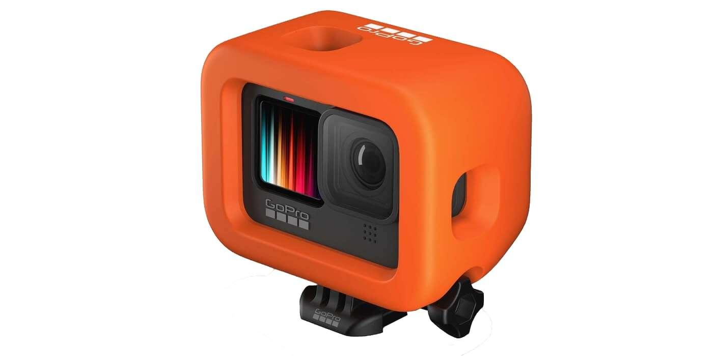 Поплавок для камеры GoPro HERO9 (ADFLT-001) Floaty с камерой вид сбоку сверху