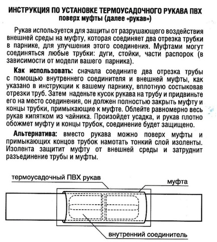 Термоусадочный рукав комплект 12 штук