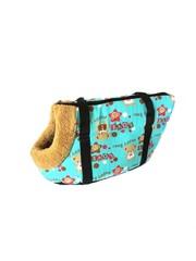 Сумка-переноска для собак с меховой отделкой Мишки