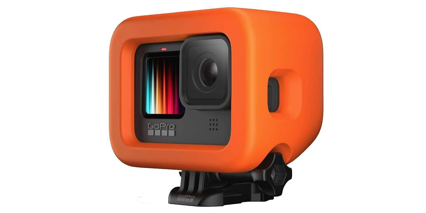 Поплавок для камеры GoPro HERO9 (ADFLT-001) Floaty с камерой вид справа