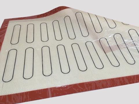 Коврик силиконовый армированный, с разметкой для эклеров, 60х40 см