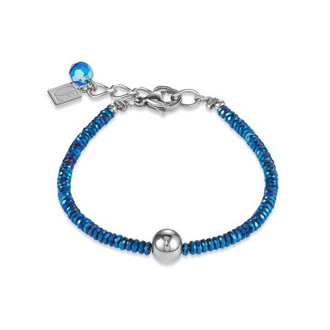 Браслет Coeur de Lion 4932/30-0717 цвет синий, серый