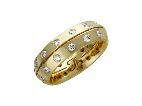Обручальное кольцо из золота 750 пробы арт.01О640195