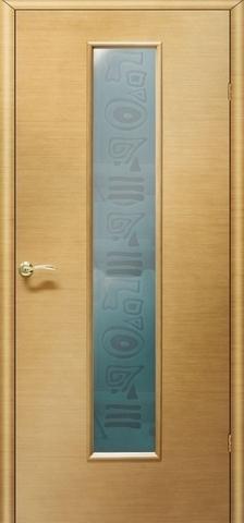 Дверь Ника 2 ПО «пескоструй» (светлый дуб, остекленная шпонированная), фабрика LiGa