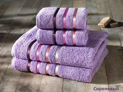 Комплект махровых полотенец КАРНА, сиреневый